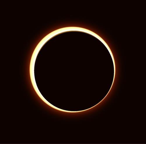 金边日食 韩国天文研究院供图(图片严禁转载复制)