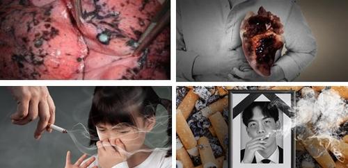 韩国12月换烟盒警示图片 凸显吸烟危险