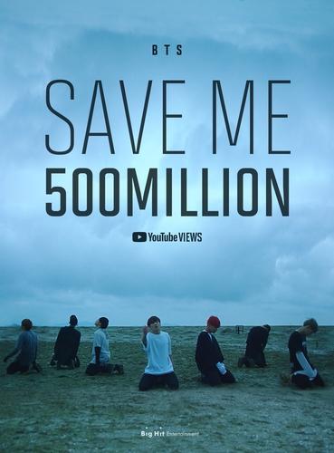 防弹少年团《Save ME》MV优兔播放量破5亿