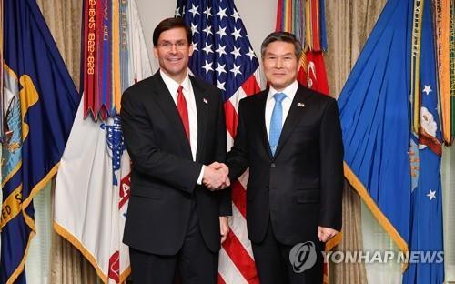 韩美防长发表韩战70周年联合声明