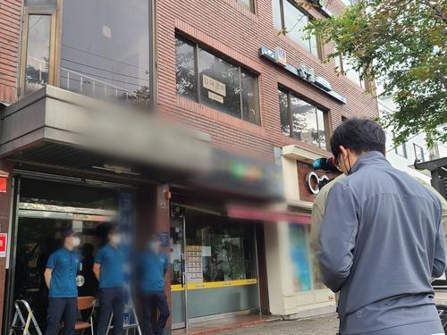 资料图片:韩国警方准备对一家脱北者团体办公室进行搜查。 韩联社