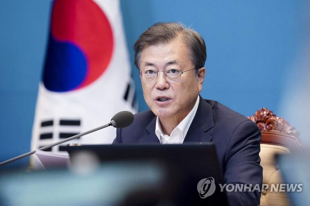 资料图片:韩国总统文在寅 韩联社