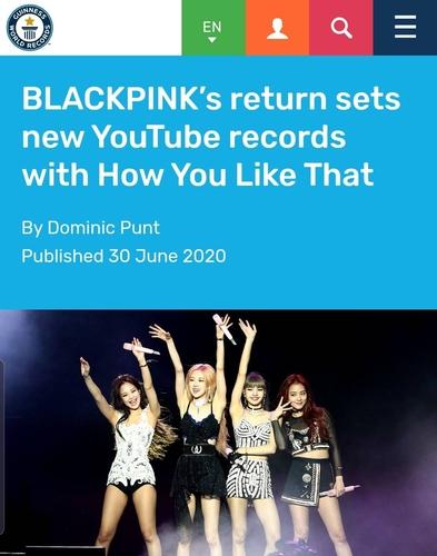 BLACKPINK新歌MV创五大纪录被载入吉尼斯