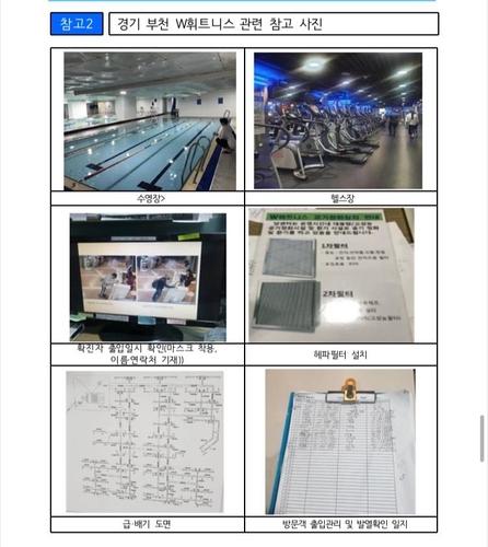 资料图片:富川市一健身房严守防疫守则事例 中央灾难安全对策本部供图(图片严禁转载复制)