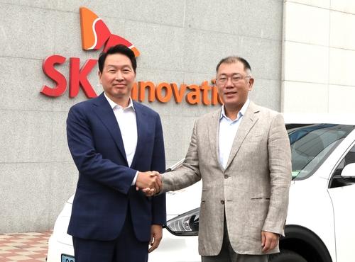现代SK掌门共商电动汽车电池合作大计