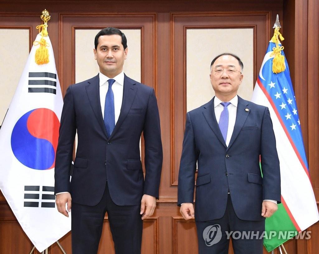 韩国乌兹别克经济副总理会晤