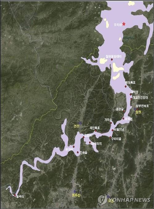 资料图片:汉滩江地质公园图 京畿道政府供图(图片严禁转载复制)