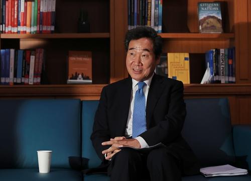 7月8日,在国会,李洛渊接受韩联社专访。 韩联社