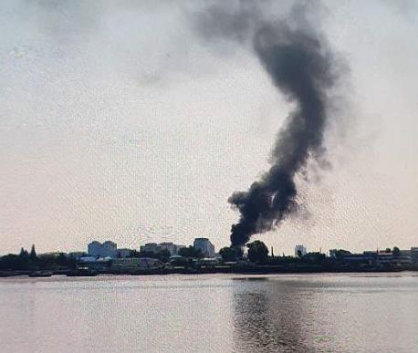 消息:朝鲜新义州一火车站上周发生大火