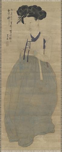 《美人图》 韩联社/国立中央博物馆(图片严禁转载复制)