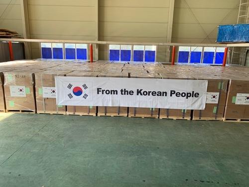 韩国向非洲28国捐赠200万张口罩