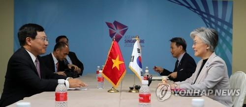 韩越外长通电话共商合力抗疫