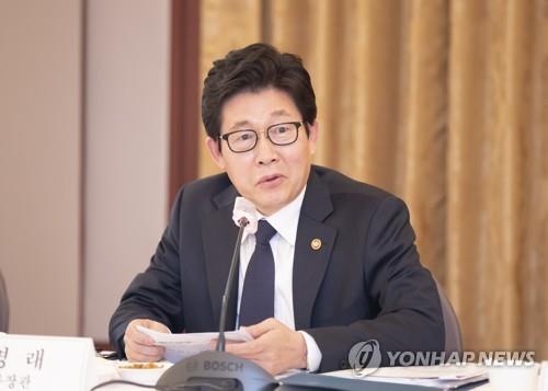 韩环境部长官赵明来视频会见联合国副秘书长刘振民