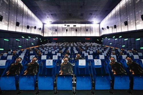 泰国一家影院的韩片《半岛》上映厅 韩联社/NEW供图(图片严禁转载复制)