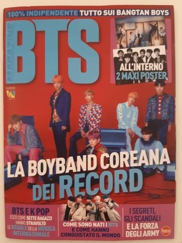 资料图片:意大利杂志社Sprea S.p.A.上月首发的期刊《BTS》封面 韩联社