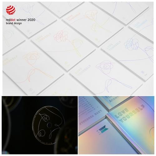 防弹《LOVE YOURSELF》系列专辑包装设计荣获红点奖