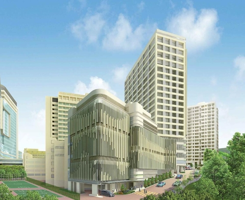 香港基督教联合医院新院区鸟瞰图 现代建设供图(图片严禁转载复制)