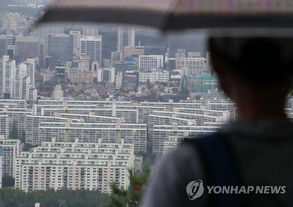 资料图片:首尔市江南区的公寓 韩联社