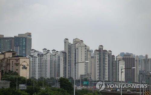 资料图片:首尔市一住宅区 韩联社