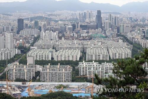 资料图片:首尔江南住宅区 韩联社