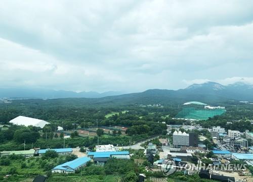 资料图片:首尔泰陵高尔夫球场及邻近地区 韩联社