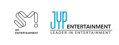 资料图片:经纪公司SM娱乐与JYP娱乐商标 SM娱乐、JYP娱乐供图(图片严禁转载复制)