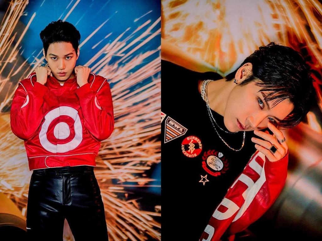 SuperM成员KAI(左)、TEN 韩联社/SM娱乐供图(图片严禁转载复制)