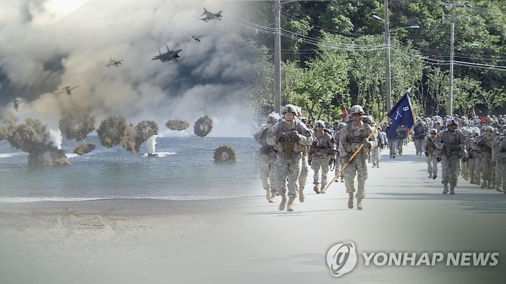 韩美例行联合指挥所演习启动