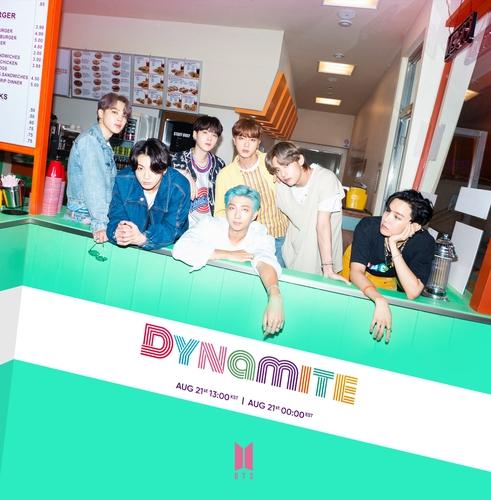 资料图片:防弹少年团英文数字单曲《Dynamite》预告照 韩联社/Big Hit娱乐供图(图片严禁转载复制)