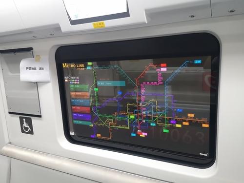 """LG Display透明OLED""""魔窗""""亮相京深地铁"""