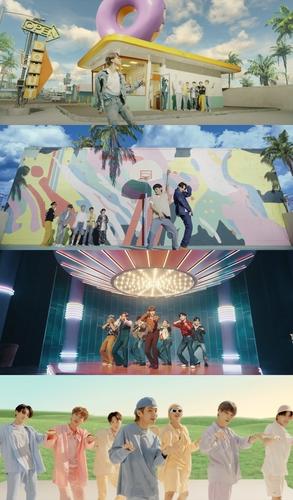 《Dynamite》MV截图 Big Hit娱乐供图(图片严禁转载复制)