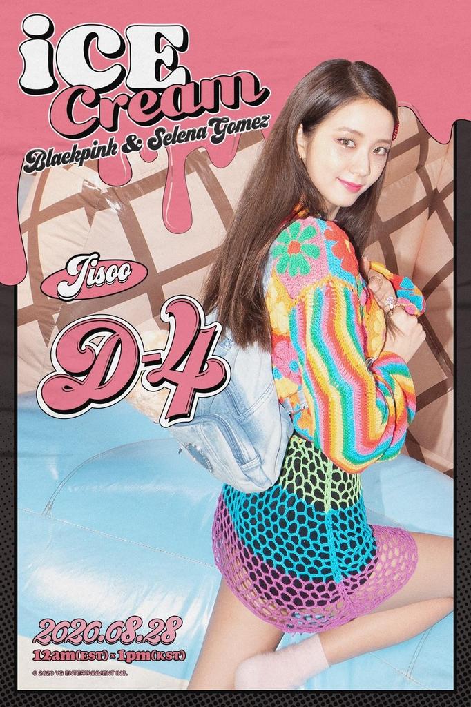 BLACKPINK成员JISOO《Ice Cream》个人宣传照 韩联社/YG娱乐供图(图片严禁转载复制)