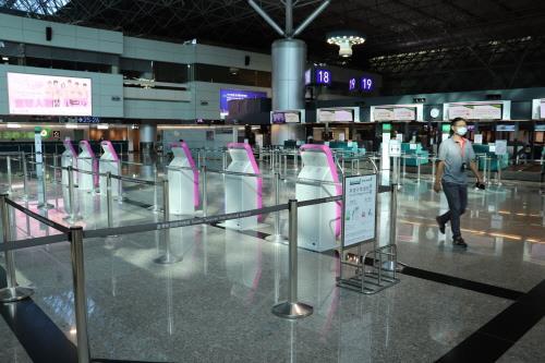 资料图片:台北桃园机场