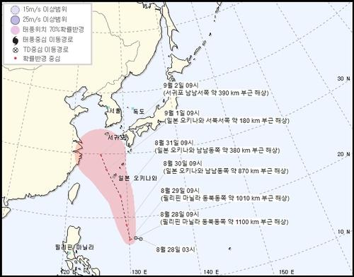 今年第9号台风或将生成影响韩国