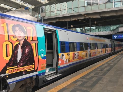 防弹怔国庆生主题高铁列车今起运行