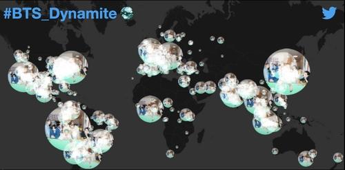 防弹《Dynamite》登顶公告牌相关推文4600万条