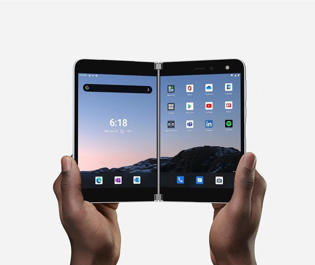 微软双屏折叠手机Surface Duo 韩联社/微软供图(图片严禁转载复制)