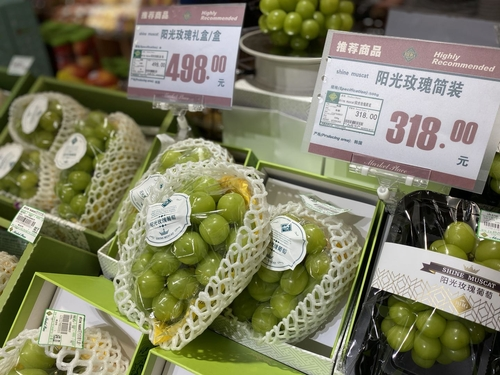 """韩产阳光玫瑰葡萄在华掀起""""食品韩流"""""""
