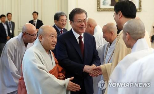 文在寅今将与佛教领袖座谈