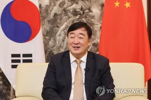 9月22日,在位于首尔明洞的中国驻韩国大使馆,中国驻韩大使邢海明接受韩联社专访。 韩联社