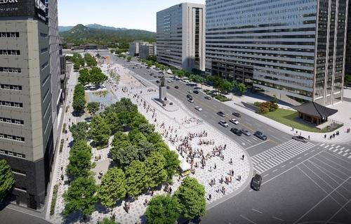 首尔光化门广场扩建打造生态文明城