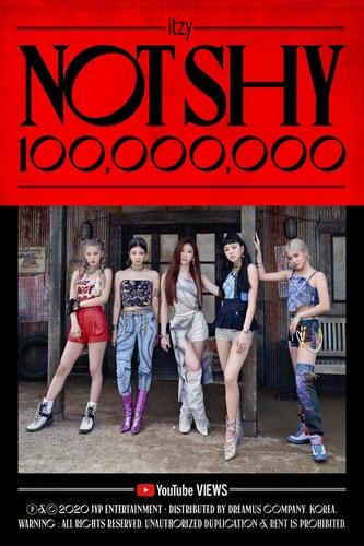资料图片:ITZY新歌《Not Shy》播放量破亿。 韩联社/JYP娱乐供图(图片严禁转载复制)