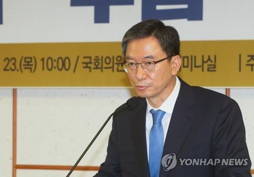 资料图片:共同民主党议员郑成湖 韩联社