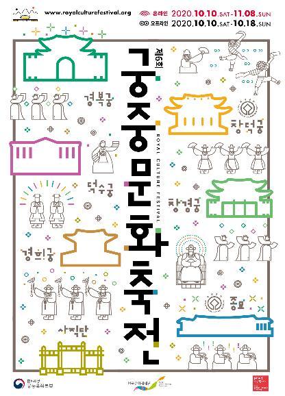 资料图片:2020年第6届宫廷文化节海报 韩联社/文化财厅供图(图片严禁转载复制)
