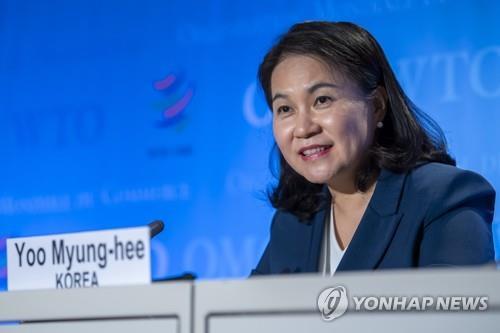 韩世贸总干事候选人俞明希晋级末轮选举