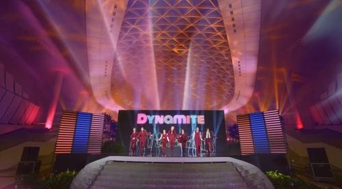 资料图片:防弹少年团 韩联社/Big Hit娱乐供图(图片严禁转载复制)
