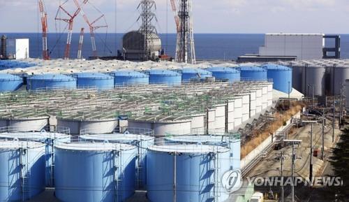 资料图片:福岛核污水储存罐 韩联社/共同社(图片严禁转载复制)
