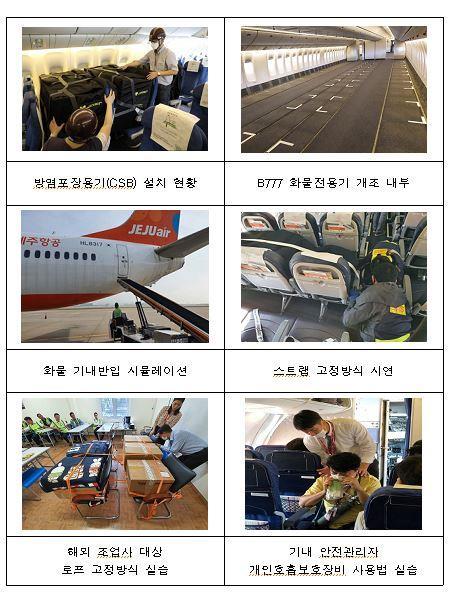 客机货运安全措施主要现况 国土交通部供图(图片严禁转载复制)