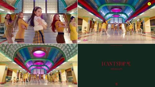 资料图片:TWICE新歌《I CAN'T STOP ME》预告片的一场面 韩联社/JYP娱乐供图(图片严禁转载复制)