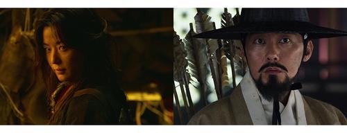 资料图片:剧中的全智贤(左)和朴秉恩 奈飞供图(图片严禁转载复制)